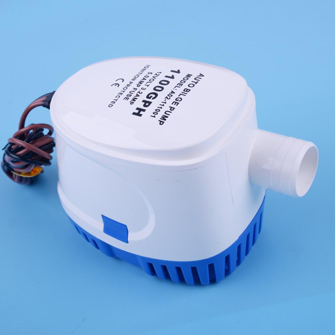 Pompe à eau automatique Marine de cale de beler 12 V 1100GPH 3.2A ubmersible avec le commutateur de flotteur pour les coques de bateau/réservoirs d'appât de cale