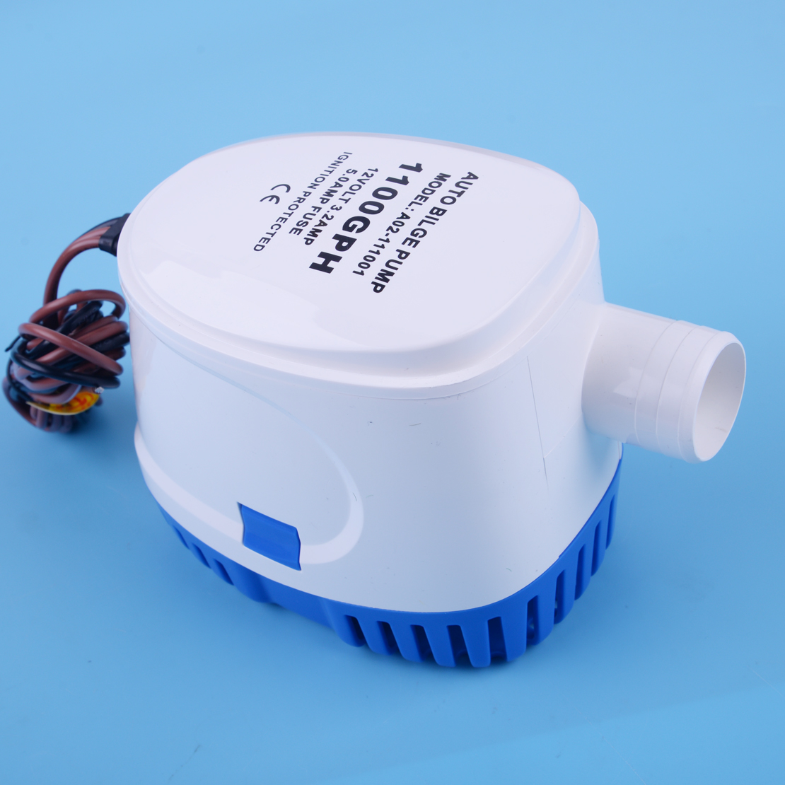 Beler Marine Automatic 12V 1100GPH 3.2A Ubmersible Bilge Auto Water Pump With Float Switch For Boat Hulls/bilges Bait Tanks