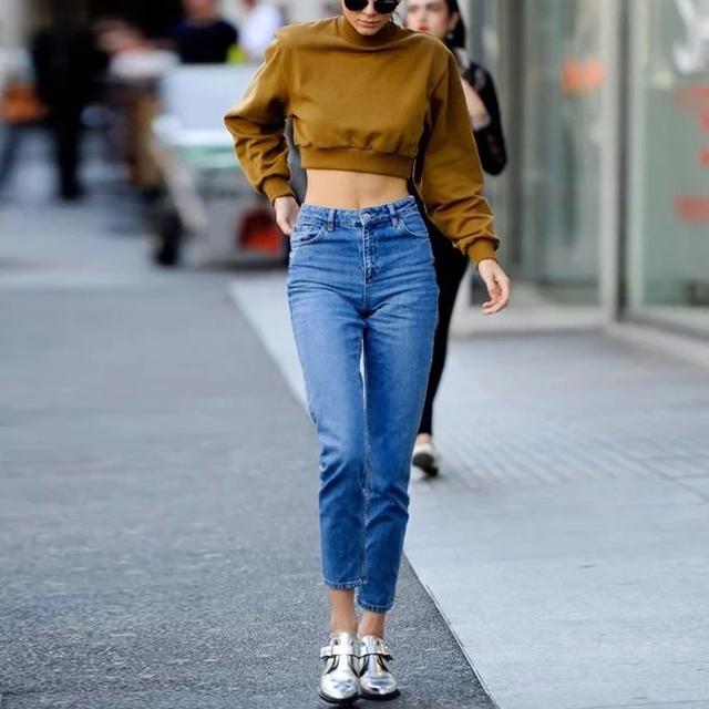 Mulheres Jeans Casual Calça Jeans Mãe Comprimento do Tornozelo Cintura Alta calças de Brim Azul Do Vintage