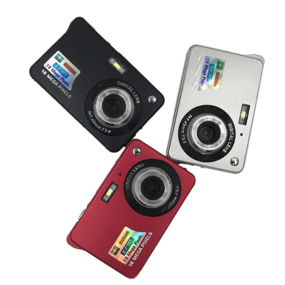 eCos Children Kids Digital Camera HD Mini Digital Camera 18MP 2.7 TFT 8x Zoom Smile Capture Anti shake Video Camcorder #292166
