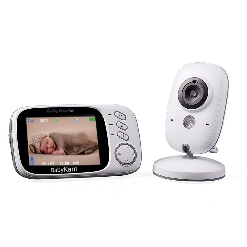 BabyKam VB603 Baby Monitor Video 3.2 inch Wireless Security Camera 2.4GHz Radio Babysitter Baba Electronica Night Vision Nanny wireless 2 4 lcd color baby monitor high resolution lullabies kid nanny radio babysitter night vision remote camera newborn gift