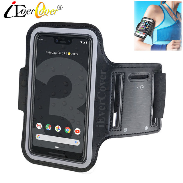 reputable site ea43b 0cc0d US $3.03 24% OFF|Sport Running Cycling Arm Band Case for Google Pixel 3 2 /  Pixel 3 XL Phone Waterproof PU Leather Cover Pouch Bag Capa Fundas-in ...