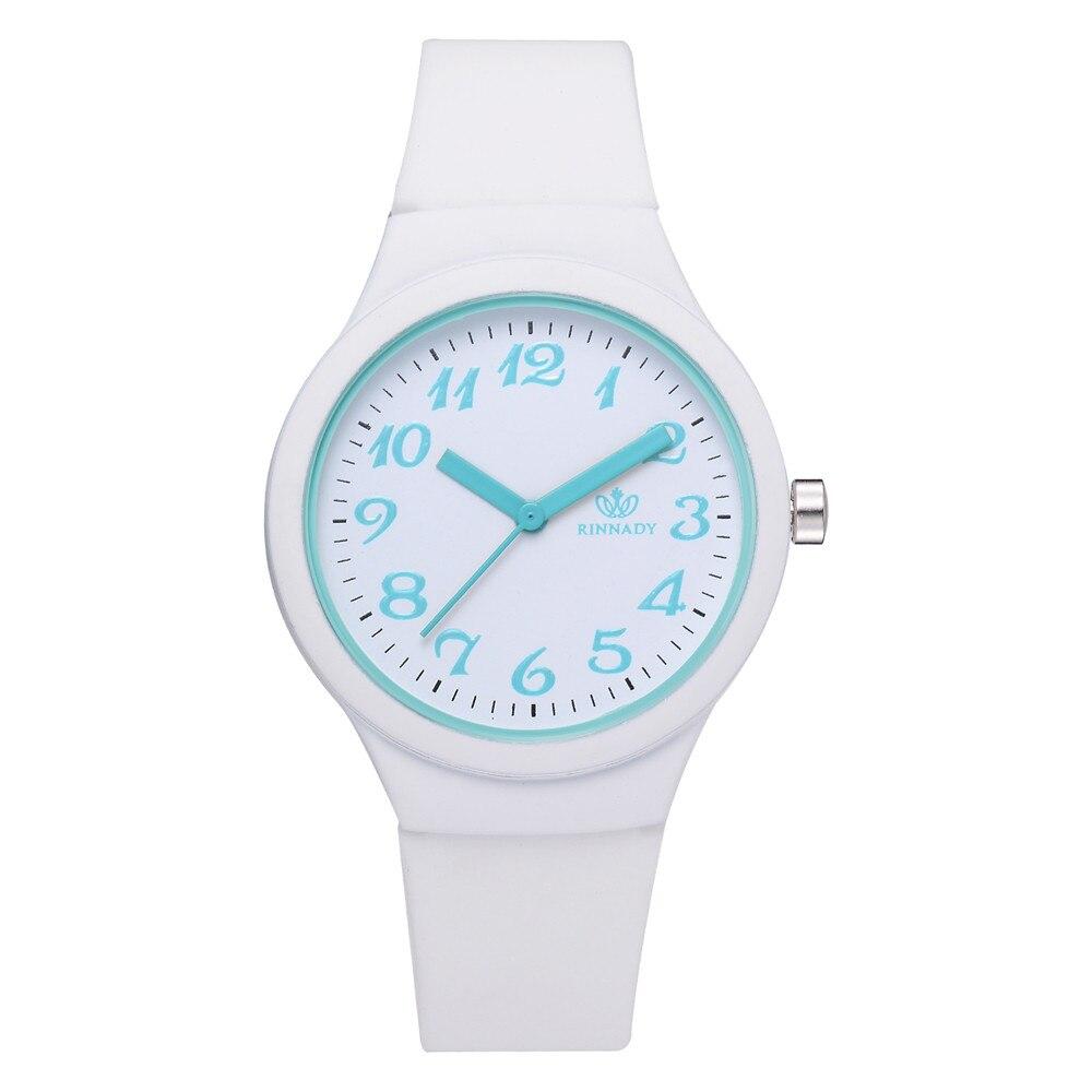 New Arrival Women Watch Top Luxury Brand Round Dial Digital Watch Female Clocks Gift Silicone Strap Quartz Wriatwatch Reloj #W