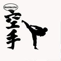 HotMeiNi 50cm x 50cm 2XKarate Chinese Kung Fu Car Sticker For Cars Door Side Truck Window Rear Windshield Vinyl Decal 8Colors