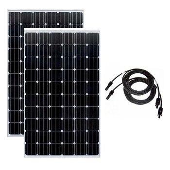 Solar Panel 20V 250w 2 Pcs Solar Battery Charger Panels Solar 500w Solar Home System Caravan Car Camp Motorhome RV Waterproof