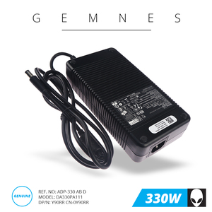 Image 1 - 330 ノートパソコンの充電器 Dell の Alienware M18X R1 R2 R3 17 R1 R4 R5 X51 R2 R3 Y90RR 0Y90RR ADP 330AB D EU 米国のプラグイン 7.4*5.0