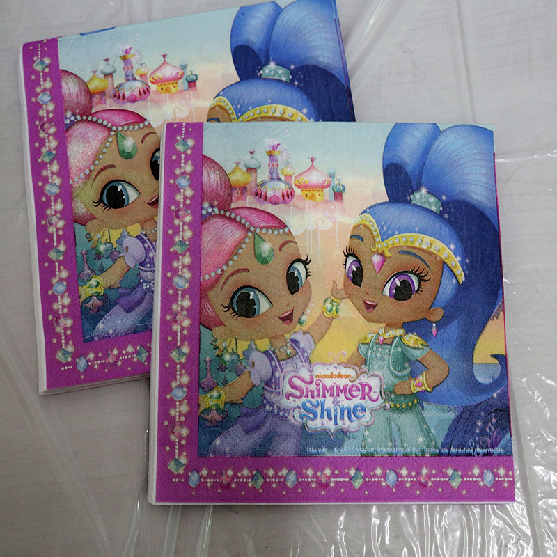 80pcs Lot Shimmer Shine Party Set Baby Shower Party Decoration