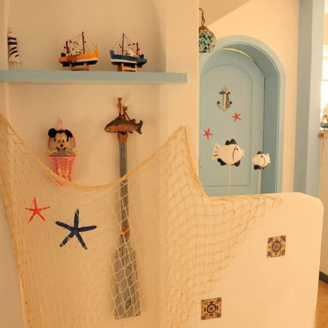 1 Pcs Fishing Net For Home Decor Wall Hangings The Mediterranean Sea ...