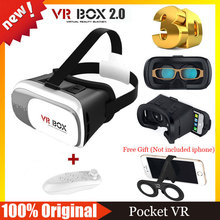 VR BOX 2.0 Google Cardboard Virtual Reality Goggles VR Helmet 3D Glasses for 3.5″ – 6.0″ Smart Phone+Wireless Bluetooth Remote