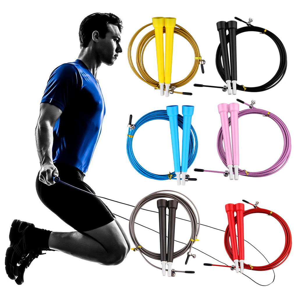 3M Adjustable Bearing <font><b>Skipping</b></font> <font><b>Ropes</b></font> Speed <font><b>Heavy</b></font> Jump <font><b>Rope</b></font> Steel Wire Fitness Sports Exercises Crossfit Hot Dropshipping image