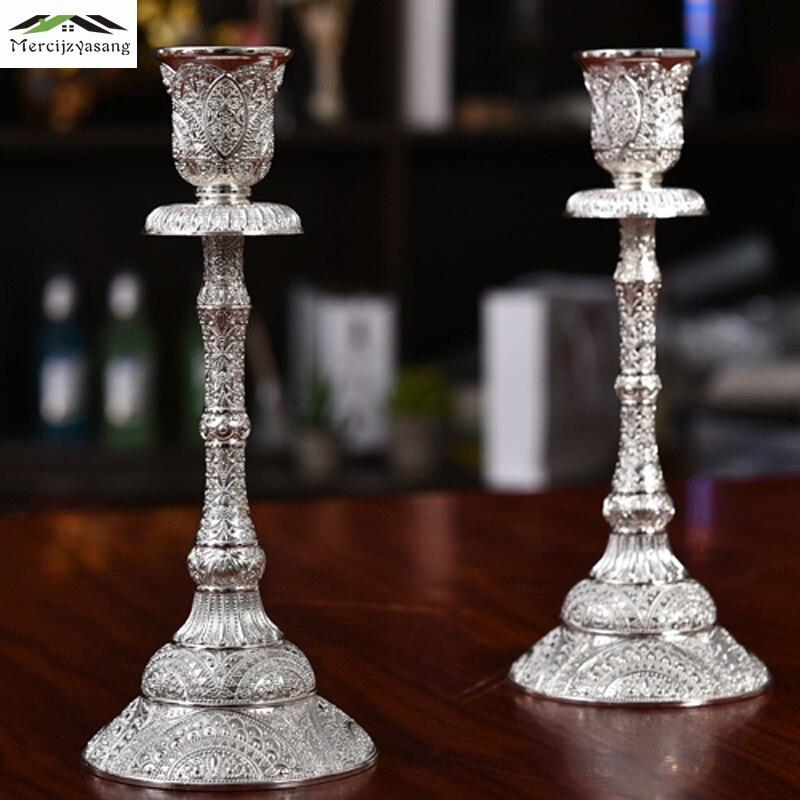 Candle Holder Table Metal Candlestick Plating Geometric Candle Holders 16cm For Wedding/Dinner Decoration Candelabra GZT077