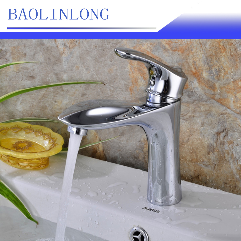 BAOLINLONG New Style Deck Mount Bathroom Basin BrassFaucets Vanity Vessel Sinks Mixer Faucet Tap
