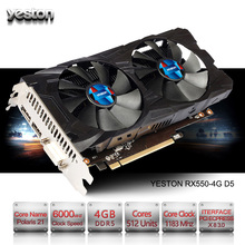 Yeston Radeon RX 550 GPU 4GB GDDR5 128bit Gaming Desktop computer PC Video Graphics Cards support PCI-E 3.0