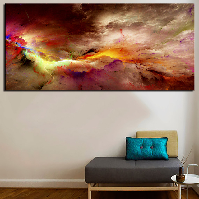 New Landscape Photography Large Art Wall Print Cloud Colorful Canvas