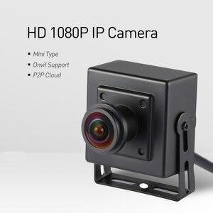 Image 2 - H.265 POE Fisheye HD 1920x1080 P 2.0MP אבטחת מיני סוג מקורה IP מצלמה מתכת מצלמה ONVIF P2P IP טלוויזיה במעגל סגור מצלמת מערכת