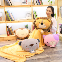 Bear Plush Toy Soft Stuffed Cute Animal Bear With Blanket Lovely Pillow For Kids Appease Toy Baby Sleeping Room Decoration rainbow teddy bear kawaii cute molang potato plush toy kids toy baby toy soft pillow plush wedding decoration anime kids gift
