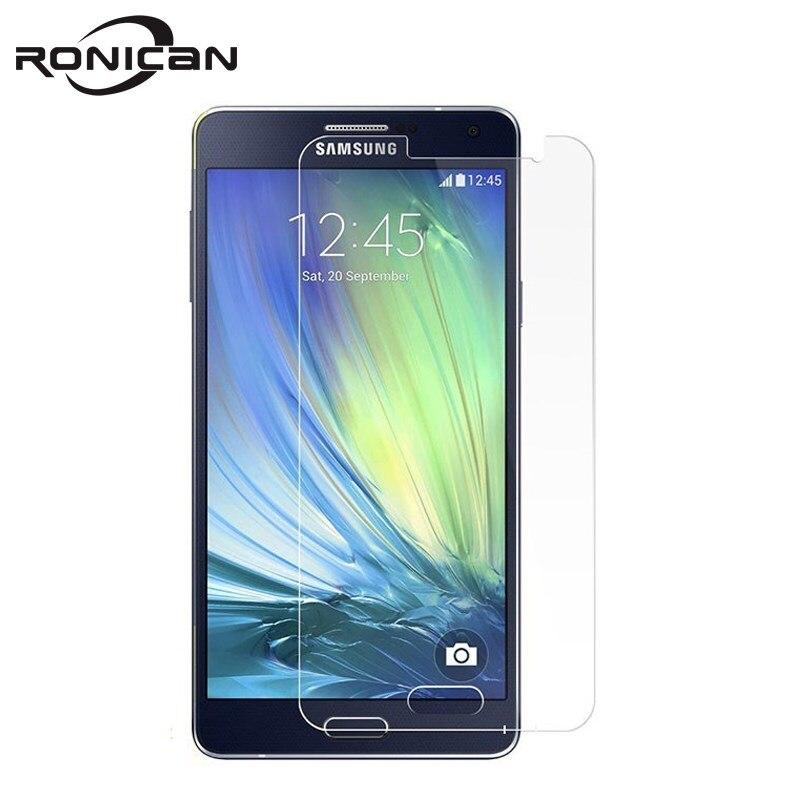 RONICAN מזג זכוכית עבור Samsung Galaxy A3 A5 A7 A710F מסך מגן בטיחות מגן סרט A300F A500F A700F A700 2015