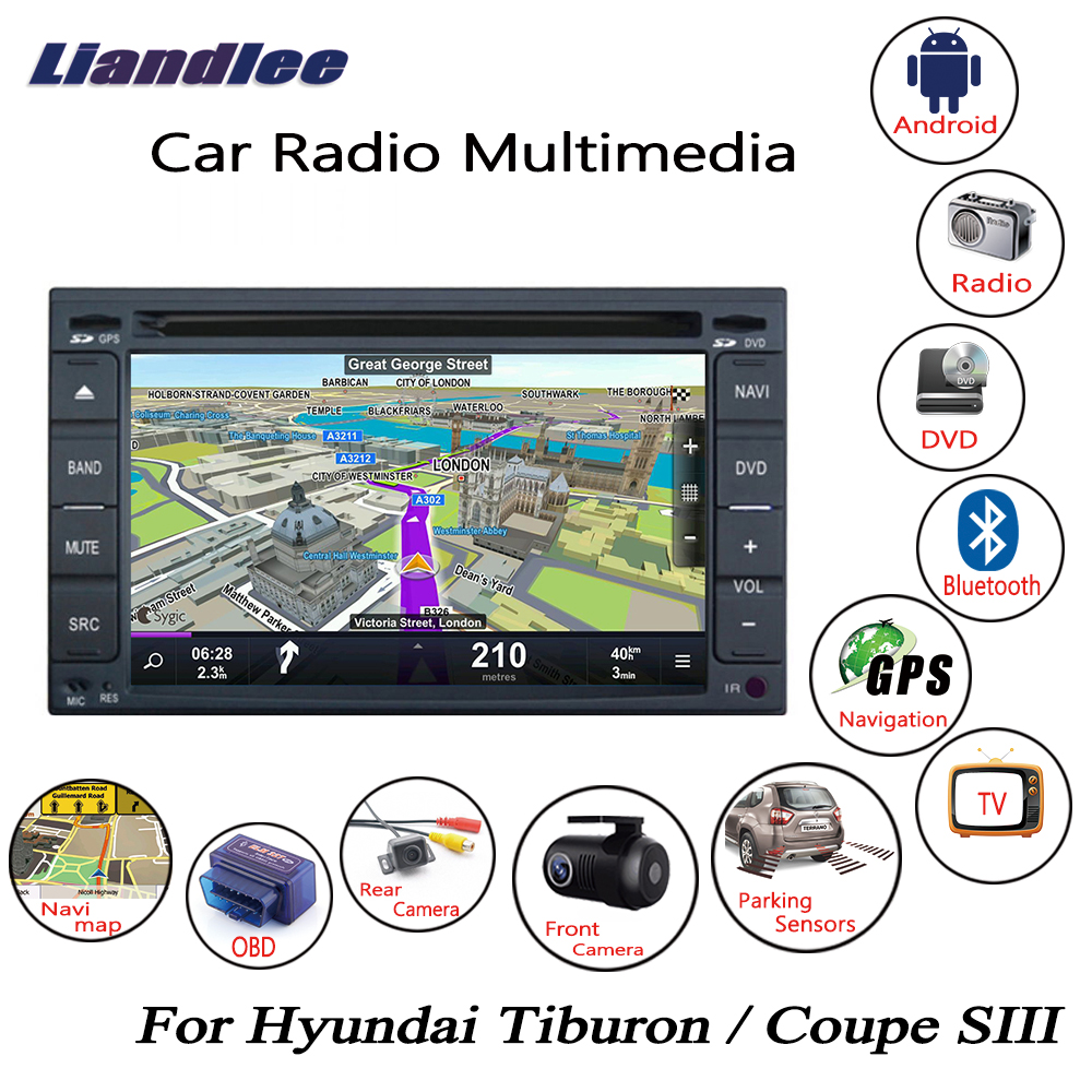 Liandlee For Hyundai Tiburon / Coupe SIII 2001~2008 Android Car Radio CD DVD Player GPS Navi Navigation Maps Camera OBD TV HD BT-in Car Multimedia Player from Automobiles & Motorcycles    1