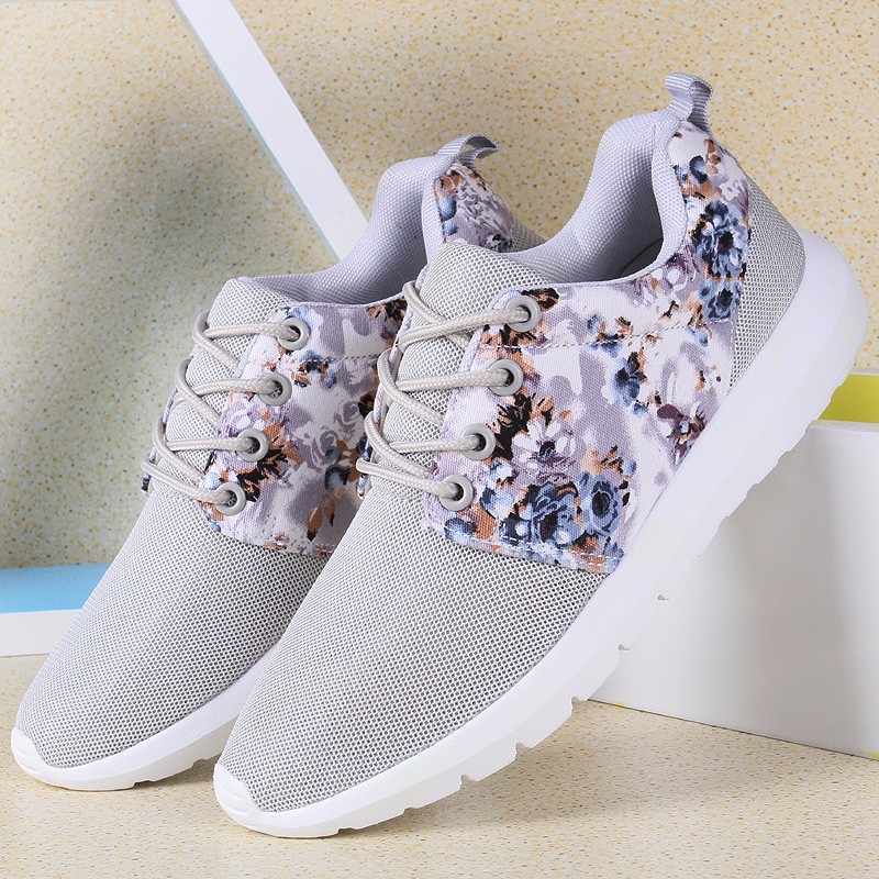 KUYUPP Fashion Breathable Print Flower Women Trainers Casual Shoes 2016 Summer Mesh Low Top Shoes Zapatillas Deportivas YD95 (1)