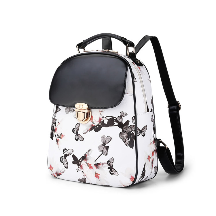 Fashion 3D Flower Printing Women big Space Tote Backpack High Quality School Backpacks For Teenage Girls