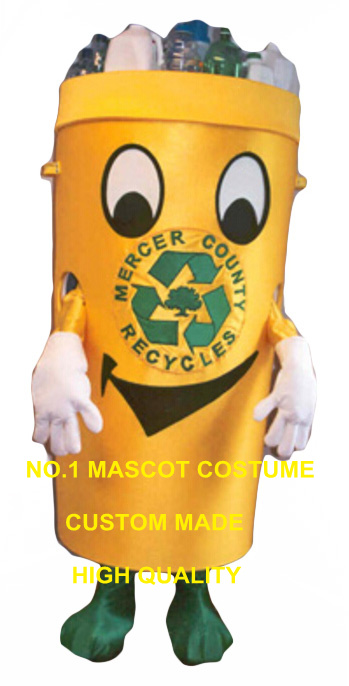 Recycle can mascot costume for adult environment protection theme anime waste ash bin cosplay costumes carnival fancy dress 2853
