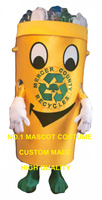 Recycle can костюм талисмана для взрослых Защита окружающей среды тема аниме отходы пепельница маскарадные костюмы Карнавальная Фантазия плать