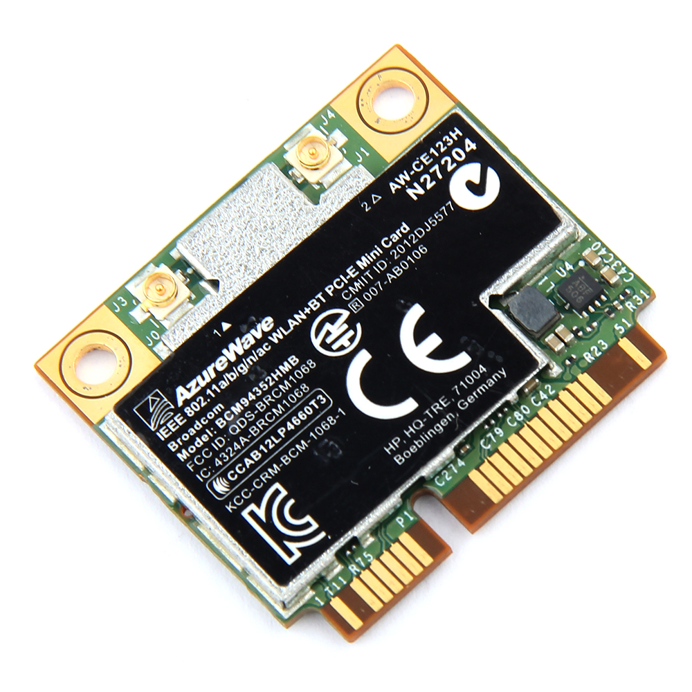 Wireless AC1200 Broadcom BCM94352HMB Dual Band Mini PCI-E Laptop Wifi Card  AW-CE123H 867Mbps 802 11ac BT 4 0 For Windows MAC