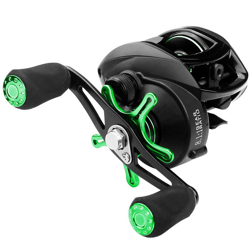 LINNHUE 2020 Baitcasting Reel 8.1:1 12+1BB Carp Fishing Reel With Magnetic Brake 8KG Max Drag Left Right Hand Casting Reels