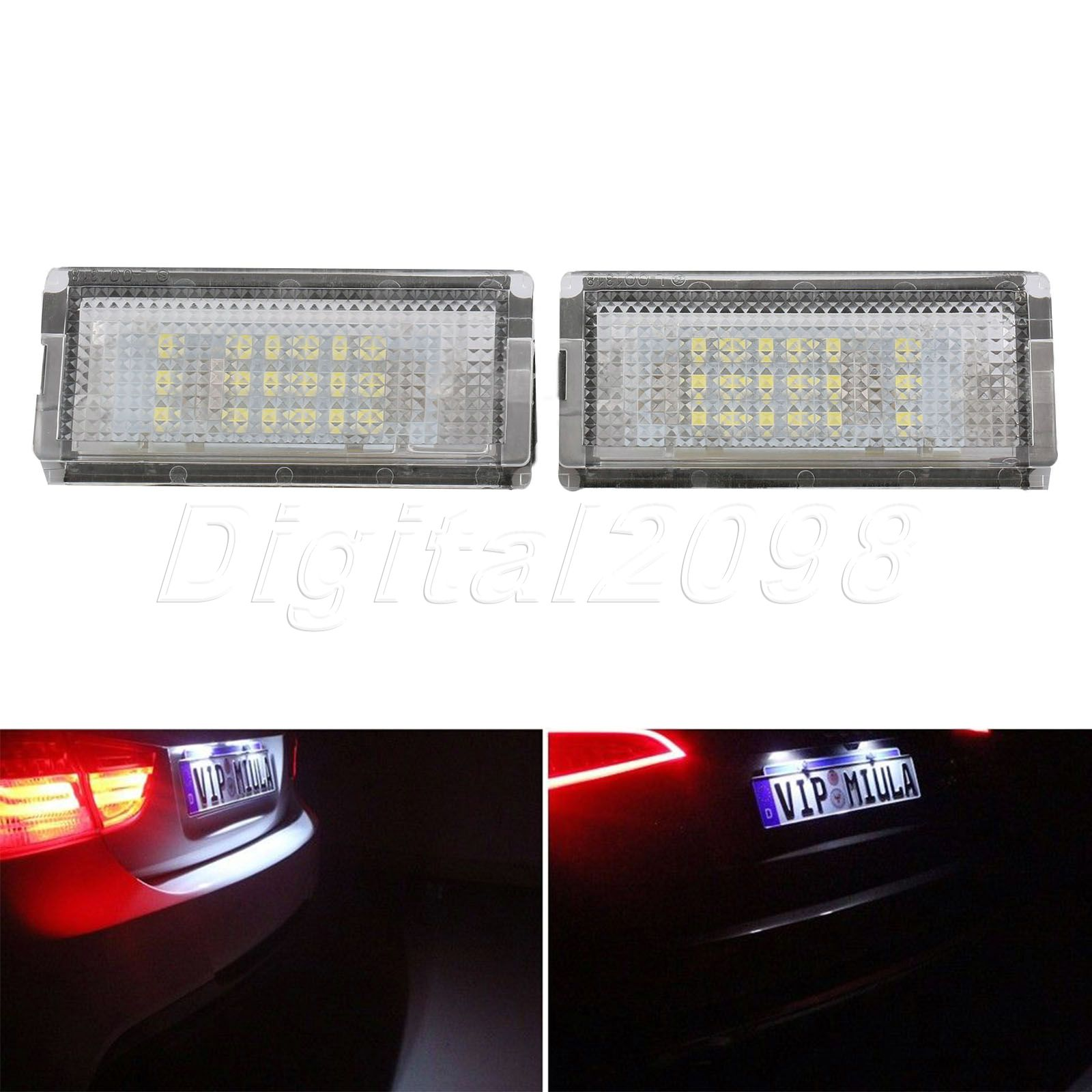 Yetaha 2x LED License Number Plate Light Bulb Lamp Error Free SMD White Lights Lamp For BMW 3Series E46 4D Sedan 5D Wagon dayan gem vi cube speed puzzle magic cubes educational game toys gift for children kids grownups