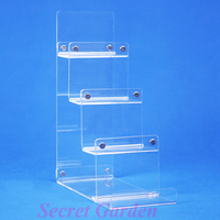 2 High Quality Clear View Acrylic Wallet Display Stand Card Holder 4 Tiers