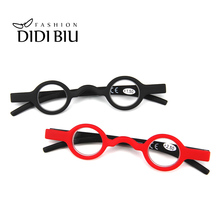 Hot Small Round Mini Reading Glasses Vintage Red Black Plastic Little Frame Readers Eyeglasses Diopters +1.50 +2.00 +2.50 WL1088
