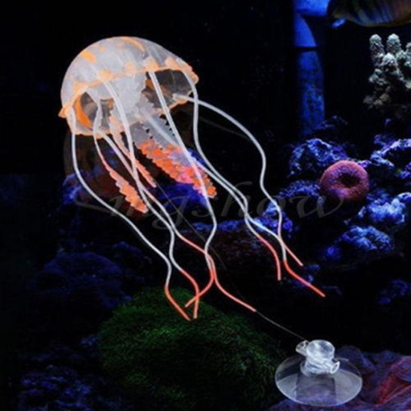 Us 084 10 Offswim Glowing Effect Artificial Jellyfish Aquarium Decoration Fish Tank Underwater Live Plant Luminous Ornament Aquatic Landscape In