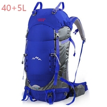 45+5L Outdoor Sport Bag, Prefessional Outdoor Hiking Bagpack, Mochila Waterproof Rain cover , 30*22*62cm