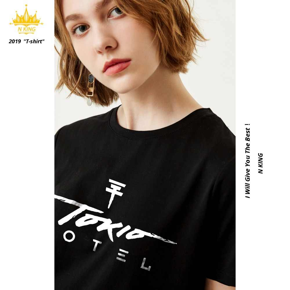 Trendy Tokio Hotel Letter 4Colour Design Women T-Shirt Casual Brand Summer Comfortable Simple Tees Tops Women/Girl Short Sleeve