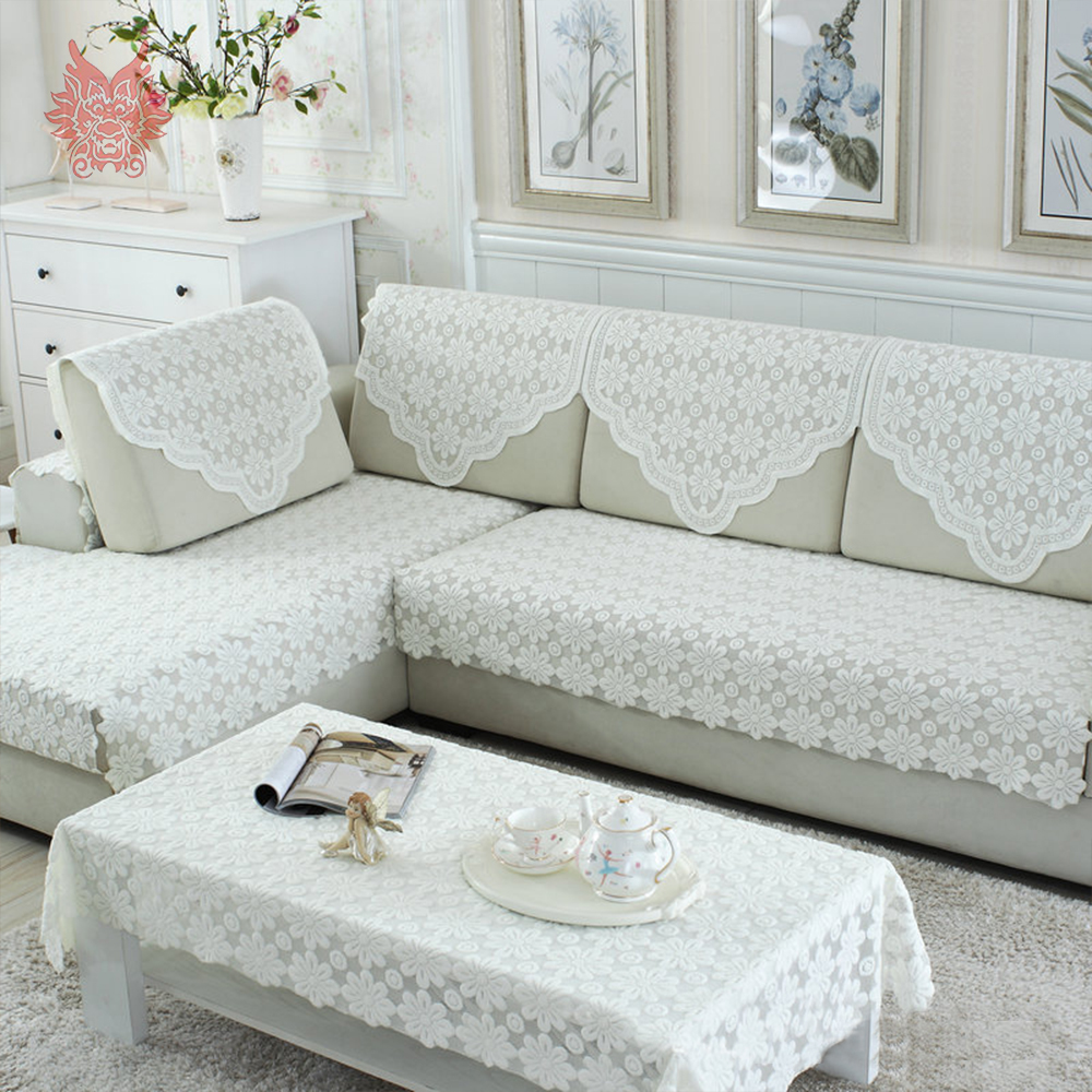 Cool Us 8 8 45 Off Korean Style White Floral Embroidery Cheap Lace Sectional Sofa Cover Fundas De Sofa Furniture Couch Covers Sp5407 Free Ship In Sofa Gamerscity Chair Design For Home Gamerscityorg