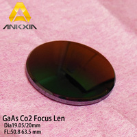 Ankxia High Quality GaAs Focus Len CO2 Laser Engraving Cutter DIameter 19.05 20mm Focal 50.8 63.5mm 2 2.5inch