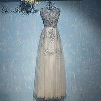 Evening Dress Long Sexy 2017 New Design Annual Meeting Formal Dress Plus Size Sleeveless O Neck