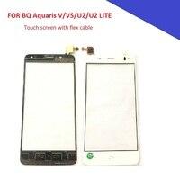 5.2 screen tela de toque para bq aquaris v vs u2 u2 lite montagem do painel toque digitador peças do telefone móvel para bq v