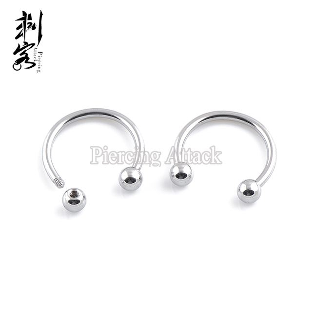 Min Order 10 Free Shipping 316l Surgical Steel Horseshoes Stud Earrings Mixed Sizes