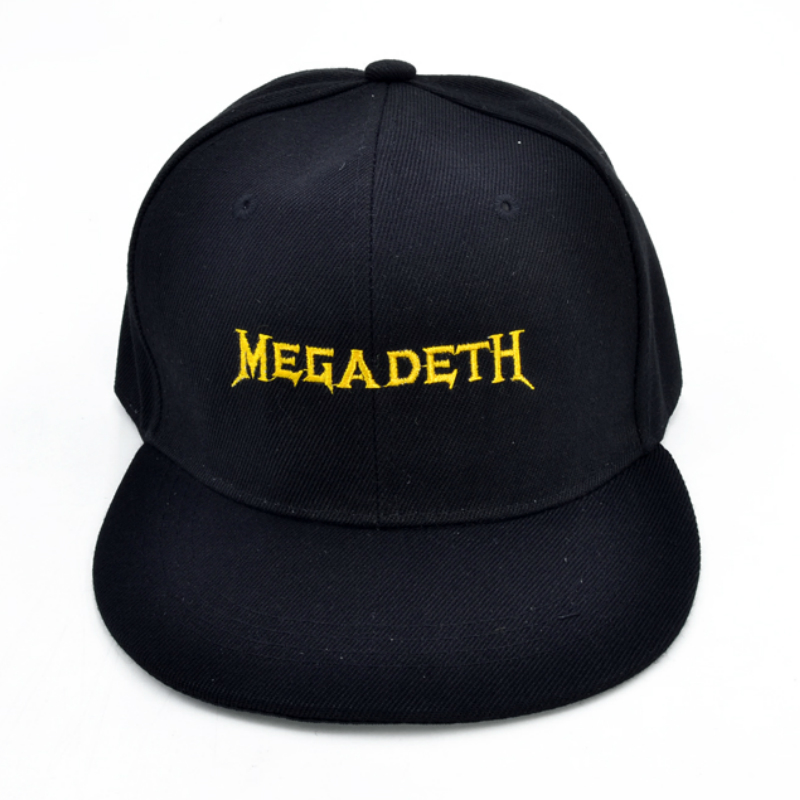 Megadeth Heavy metal band Baseball cap Rust In Peace Best metal rock hip-hop hat Alphabet embroidery Men and womens napback hat