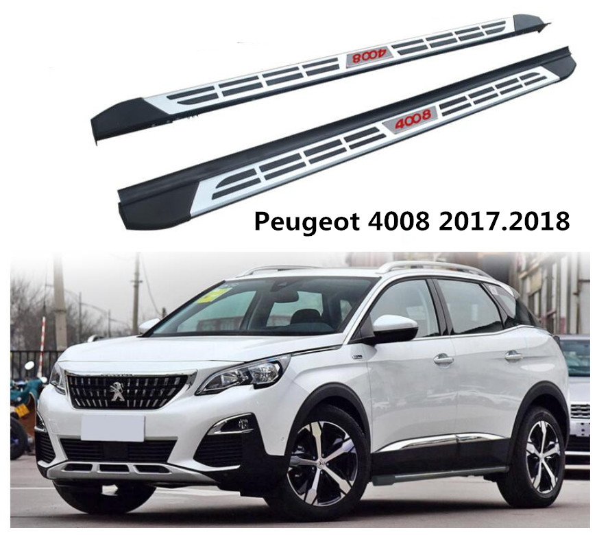 for peugeot 4008 car running boards auto side step bar pedals high quality brand new. Black Bedroom Furniture Sets. Home Design Ideas