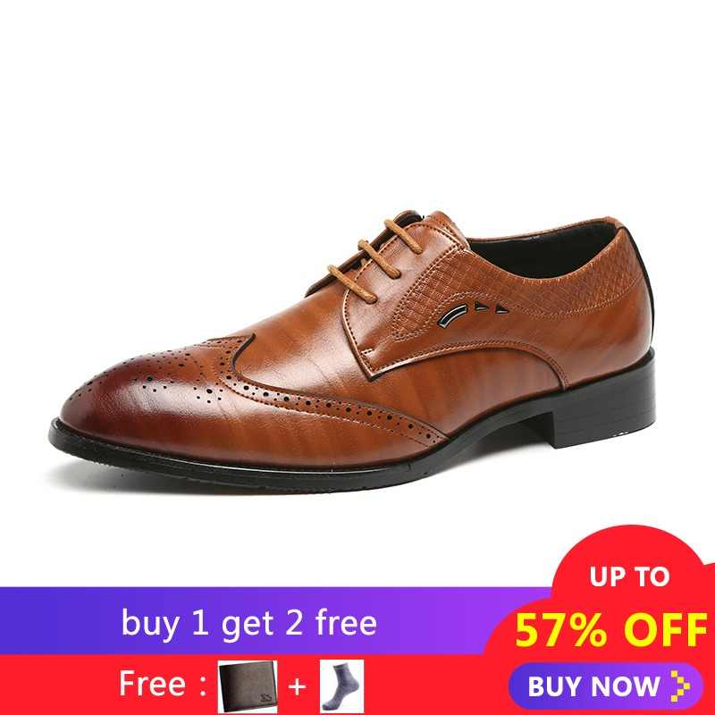 Mens Oxfords Shoe Formal Casual Shoes Men Summer Large Size 48 Lace-up Men  Casual a3b7f25f9ab1