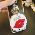 South Korea cartoon cute mini cosmetic mirror with portable mirror bags hang adorn article key chain
