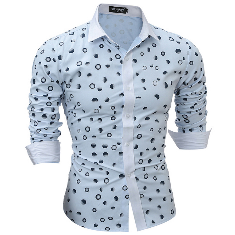 Compare Prices on Blue and White Polka Dots Shirt Mens- Online ...