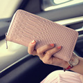 Women Wallet Purse Alligator Leather Lady Long Handbag Female Zip Around Clutch Womens Wallets Coin Purses free shipping