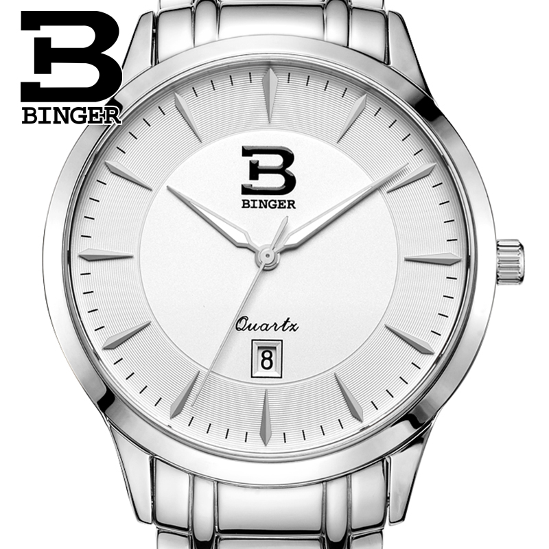 Switzerland Mens Watch Luxury brand BINGER Business Quartz Stainless Steel Waterproof Clock Ultra-thin Wristwatches B3005M-1Switzerland Mens Watch Luxury brand BINGER Business Quartz Stainless Steel Waterproof Clock Ultra-thin Wristwatches B3005M-1