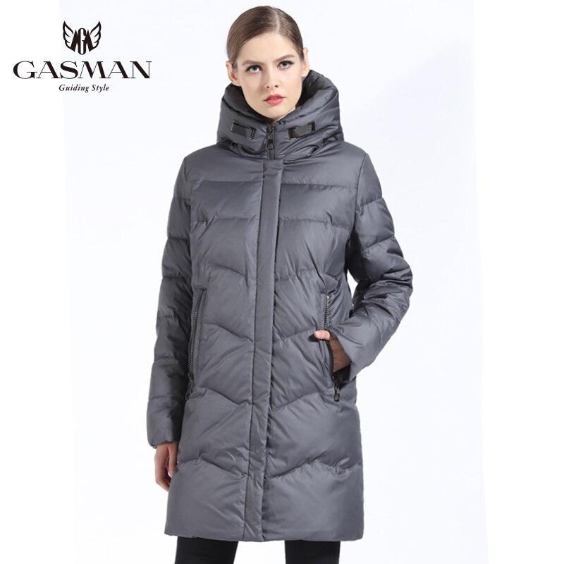 Gasman 2018 marca para baixo jaqueta das mulheres inverno para baixo parka para as mulheres à prova de vento outwear casaco grosso feminino plus size 7xl 6xl - 2
