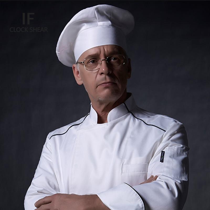 IF Chef's Hat Hotel Restaurant Waiter Kitchen Work Cap Men And Women Chef Hat Solid-colored Cap