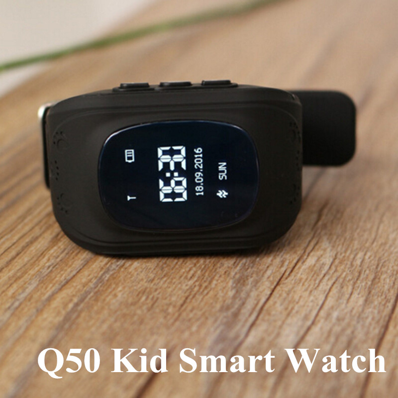 Original Q50 GPS Kid Smart Watch Anti Lost GPS <font><b>Tracker</b></font> Smartwatch OLED Screen Clock Support 2G Network SIM Card for Android IOS