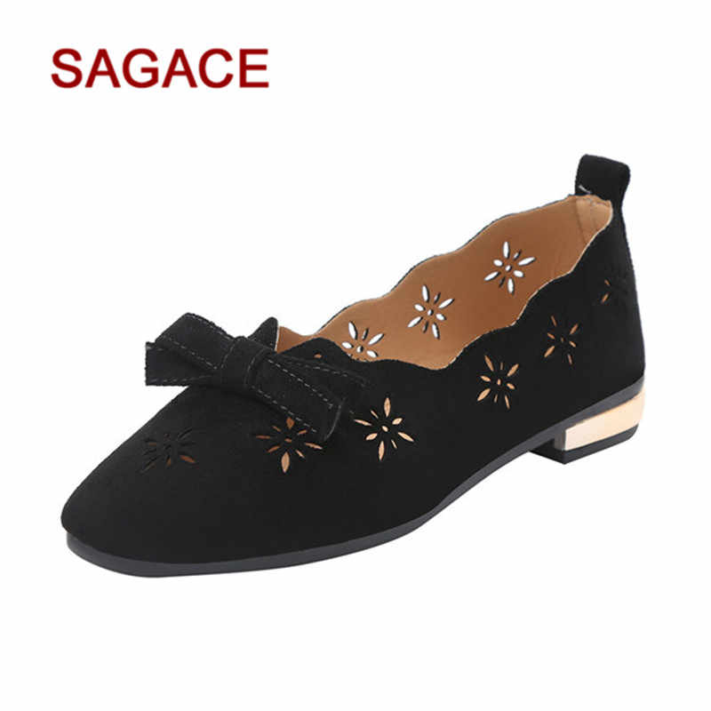 b028160e92c Detail Feedback Questions about HB SAGACE Women Hollow Single Shoes Pointed  Toe Nubuckle leather Women Leisure Shoes Matching Slip on Ladies Shoes on  ...
